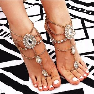 Jewelry - Gold Barefoot Sandals